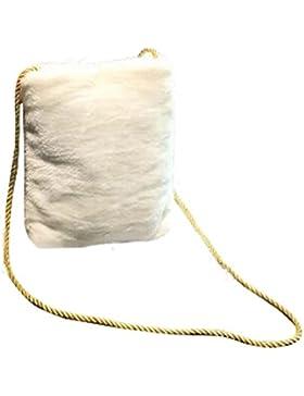 BZLine® Frauen Messenger Schulter Telefonmünze Plüsch Taschen Gift Bag