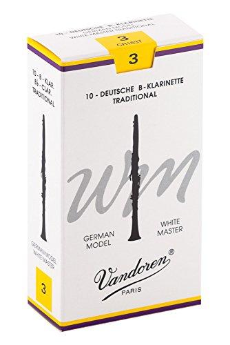 Vandoren Blätter B-Klarinette Deutsch 3,0 White Master Traditional