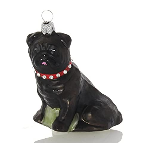 Hanco bijoux de Noël Noir Carlin, 8cm