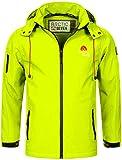 Arctic Seven Herren Designer Softshell Funktions Outdoor Regen Jacke Sport AS087 (Gr.XXXXL/Gr.4XL, Neongelb)