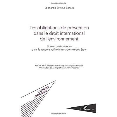Les obligations de prévention dans le droit international de l'environnement: Et ses conséquences dans la responsabilité internationale des États