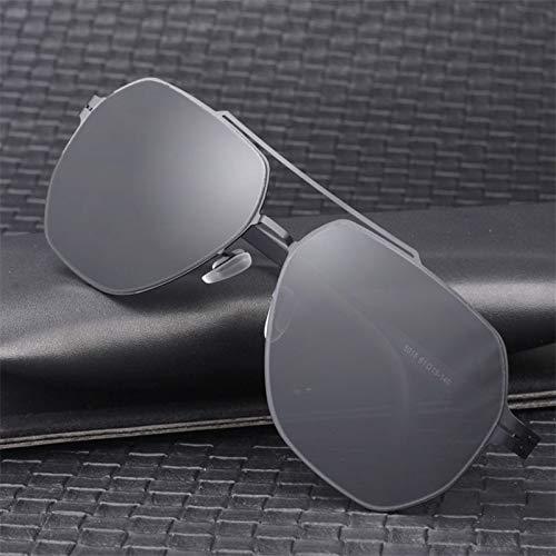 LKVNHP Hohe Qualität 150Mm Übergroße Sonnenbrille Männer Polarisierte Keine Schraube Ultraleichte Hd Polaroid Objektiv Sonnenbrille Für Mann Fahren Anti ReflektierenSchwarz Schwarz