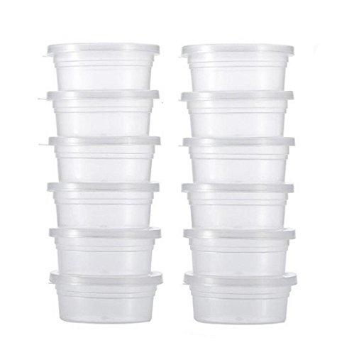 Tasses avec couvercles, Hunpta 12PC Slime Boîtes de rangement Boule en mousse de stockage de conteneurs de tasses avec couvercles