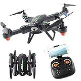 PowerLead F16W RC Quadcopter Wi-FI FPV Drone Pliable avec caméra HD 720p RTF 4 canaux 2.4GHz 6-Gyro avec Fonction de Maintien de l'altitude, Mode sans tête et Un Retour de clé Accueil-Vert