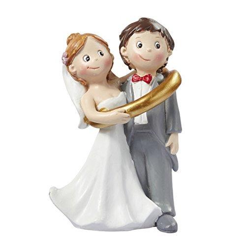 3870221 - Hochzeitspaar * Brautpaar im Ring * Tortendekoration * Tortenfigur * Tischdekoration