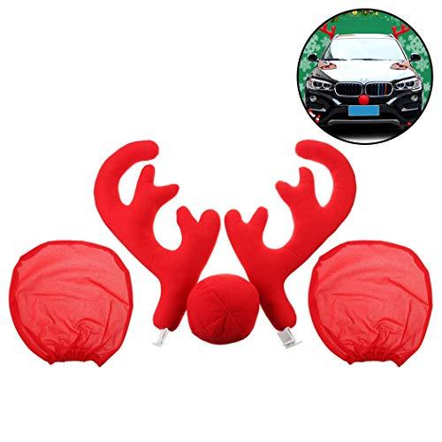 Fansport Auto Dekorationen Rentier Geweih Und Nase Decor Car Character Kit