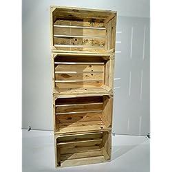 Set de 4 cajas de madera en estilo vintage para boda