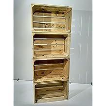 set cajas de madera pino natural vintage