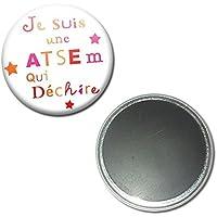Je suis une ATSEM qui déchire Magnet Aimant Frigo 56mm ( Idée Cadeau Fin d'année Scolaire École Noël Remerciement )