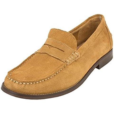 H by Hudson Hombre Augusta Suede Shoes, Marrón