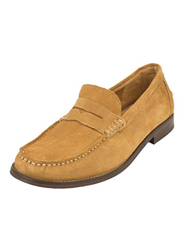 H by Hudson Homme Augusta Suede Shoes, Marron Marron