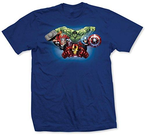 Marvel Avengers Character Fly T-Shirt, Bleu, X-Large Homme