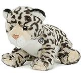 Kuscheltiere.biz Schneeleopard IRBIS sitzend Plüschtier Leopard