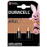 Duracell MN21, Batteria Alcalina 12 V, Specialistica Sicurezza, A23 / 23A / V23Ga / LRv08 / 8LR932, Progettate per l'Uso in Telecomandi, Campanelli Wireless e Sistemi di Sicurezza, Confezione da 2