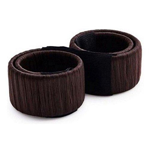 Tefamore Damen Fashion Haarstyling Tool,DIY-Donut Hair Bun Maker,Französisch Twist Magic Tools Bun Maker,Brautschmuck Haarknoten Frisurenhilfe Haarzopf,Braun