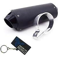 Stoneder - Silenciador de tubo de escape de 38 mm, aluminio negro, compatible con
