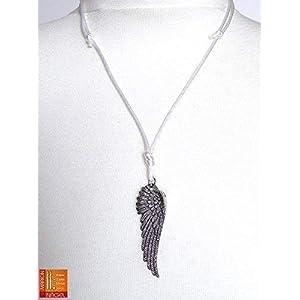 Halskette mit Flügel Farbe personalisierbar Geschenk