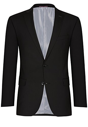 Michaelax-Fashion-Trade - Costume - Uni - Manches Longues - Homme Noir - Black - Schwarz(90)