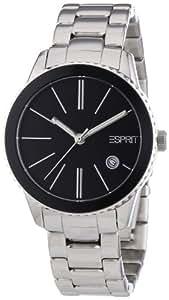 Esprit Damen-Armbanduhr XS Marin Halo Silver Black Analog Quarz Edelstahl ES105062005