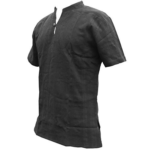 Fisherman Shirt Ben,Black, L, Shortsleeve