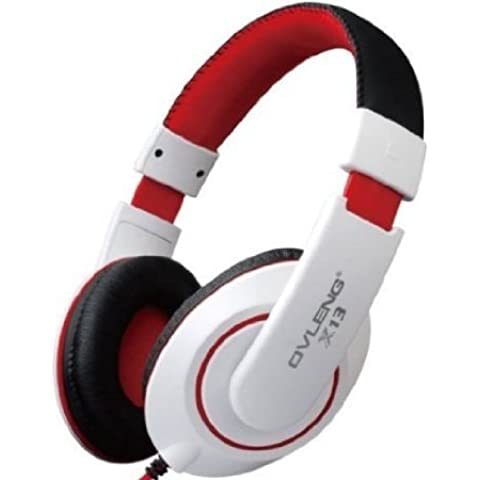 Dax-Hub X-8 / X-13 Cancellazione del Rumore Stereo Headset Auricolare Stereo Cuffia con microfono (2,4 GHz HD puro flusso di trasmissione) (X-13 Bianco)