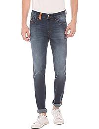U.S. Polo Assn. U. S. Polo Assn. Men Blue Slim Jeans - B075NKFVDZ