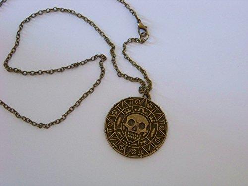 Fluch der Karibik Halskette Elizabeth Swann + eine kleine Überraschung , Medallion , Farbe: (Der Elizabeth Piraten Karibik Kostüme)