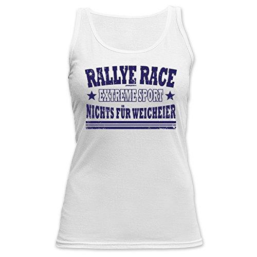 TankTop für Sport Girls - Rallye Race Extreme Sport Nichts für Weicheier Sportlerinnen Sportgirl Sportfan Race Weiß