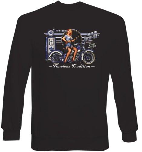 Sweat-Shirt ::: Timeless Traidtion from Milwaukee ::: für Biker mit US-Motiv (Bier Milwaukee)