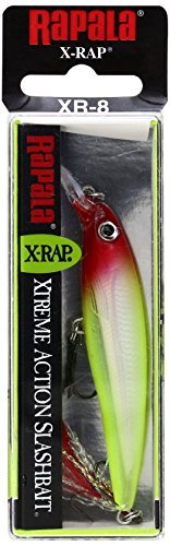 Rapala X-Rap Jerkbait 08 Fishing Lures (Clown, Size- 3.125) by Rapala