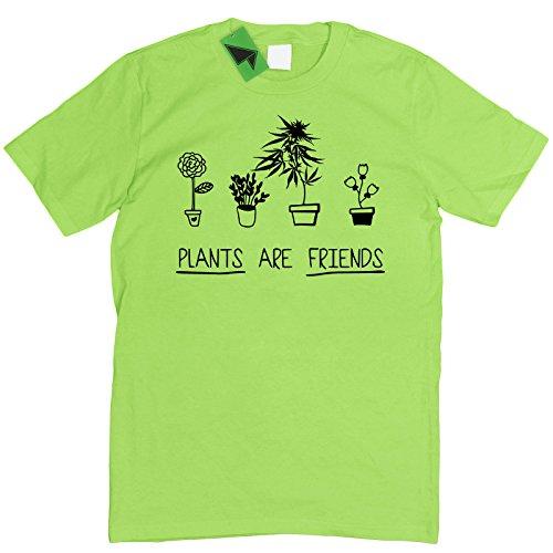 Prism Clothing Co. Herren T-Shirt Weiß Weiß Grün - Limettengrün