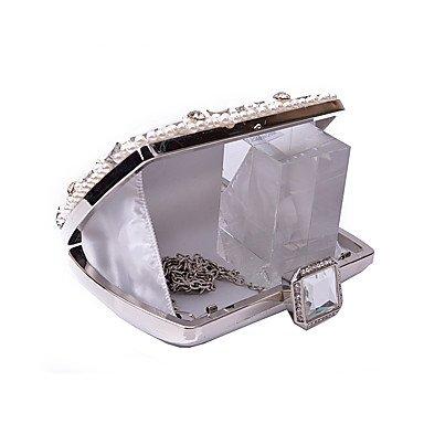 Women's Luxus Hochwertige Nail Raupe künstliche Perle Juwelen Abend Tasche Black