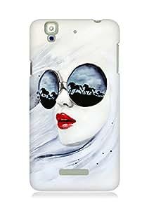 Amez designer printed 3d premium high quality back case cover for YU Yureka (Wild Girl)