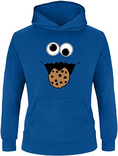EZYshirt® Cookie Monster Kinder Hoodie | Kinder Kapuzenpullover | Kinder Pullover (Cookie Mädchen Für Monster-kostüm)