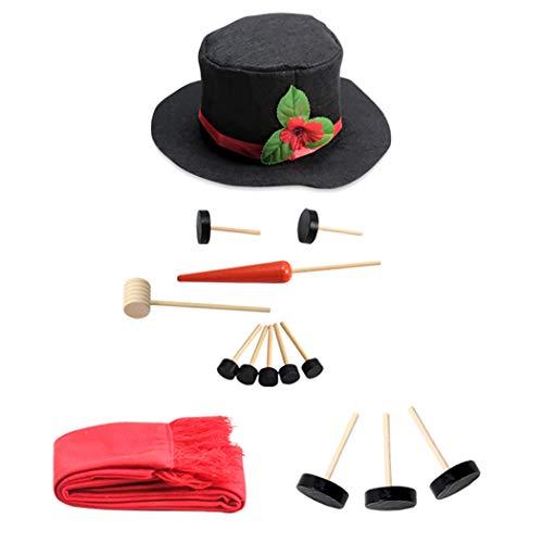 Joyibay Schneemann Kit Schneemann Dekoration Kit Winter im Freien Spaß Spielzeug für Weihnachten - Schneemann-bausatz