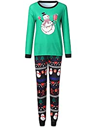 Pajamas de Navidad a Juego para niños y Adultos, Conjunto de Pijama de NavidadMuñeco de Nieve de Navidad, Pijama y Ropa de Dormir Familiar a Juego Gusspower