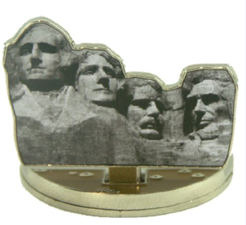 Memorial Marker (Mount Rushmore National Memorial aufklappbare Magnetischer Golf Ball Marker Mit Hut Clip)