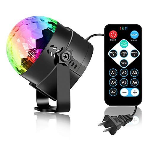 Lichter Tischlampe Strobe Dance Nachttischlampe Light 3W Nachtlicht Disco-Kugel Leuchtet 7 Farbton Aktiviert Lichterkette Kugeln ()