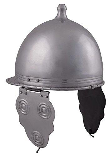 Keltischer Helm Montefortino, Stahl Dekohelm schaukampftauglich Ritterhelm LARP - Römisch Keltischen Kostüm