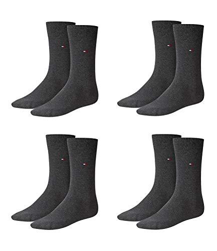 TOMMY HILFIGER Herren Classic Casual Business Socken 4er Pack (anthracite melange / anthracite melange, 39-42)
