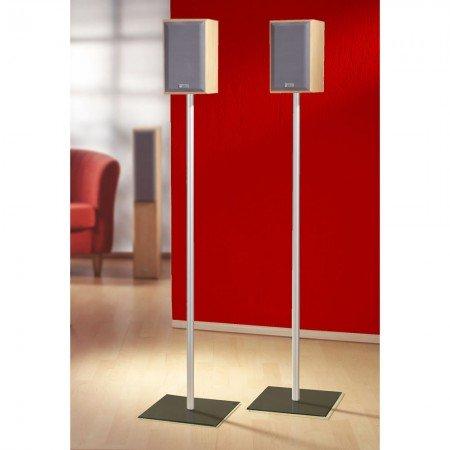 VCM 2x Boxenständer Lautsprecherständer Lautsprecher Boxen Ständer Alu Glas Standfuss schwarzglas