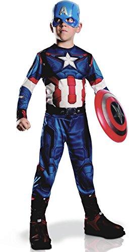 Captain America-Kostüm aus Avengers für Jungen 128/140 (8-10 Jahre)