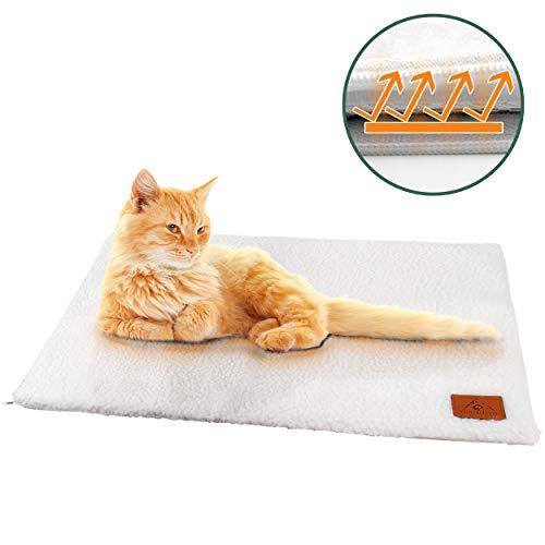 Pfotenolymp® Premium Katzendecke / Hundedecke - Selbstheizende Heizdecke - Wärmedecke selbstwärmend für Katze & Hund - Wärmematte / Heizmatte für Katzen & Hunde