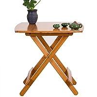 ZTMN Bedside table folding table dining table portable garden table wedding/garden (size: 60 * 60 * 60cm)