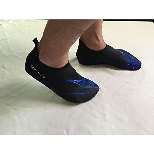 GWELL Unisex Strandschuhe Badeschuhe Weich Schnell Trocknend Aquaschuhe Barfußschuhe Aqua Socks Surfschuhe für Damen Herren blau-1