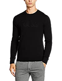 Guess Pull col rond NOIR - tendance - Homme - M54R01