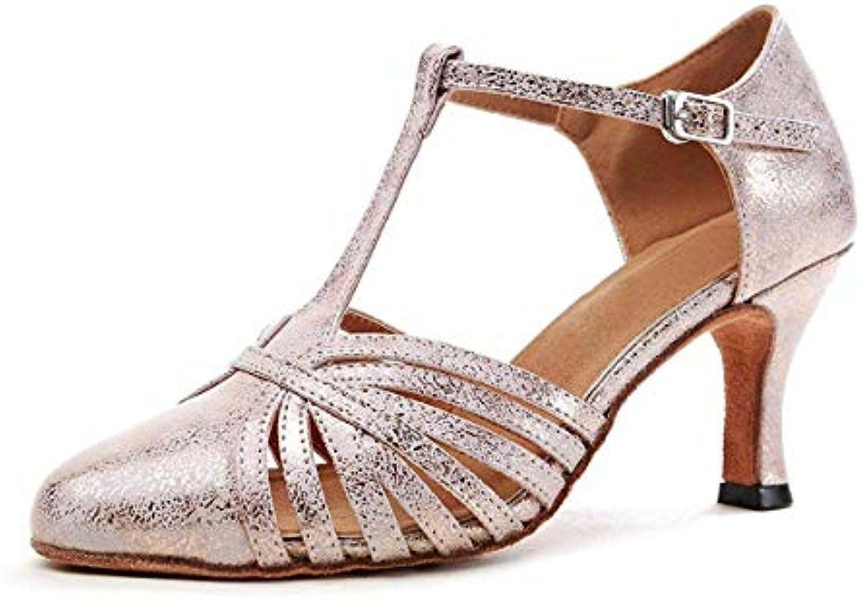 ZHRUI GL259 T-Strap Donna Moda Sintetica Ballroom Latino Scarpe Scarpe Scarpe da Ballo Partito Pompe (Coloreee   rosa-7.5cm Heel... | Valore Formidabile  | Uomo/Donna Scarpa  7bce75