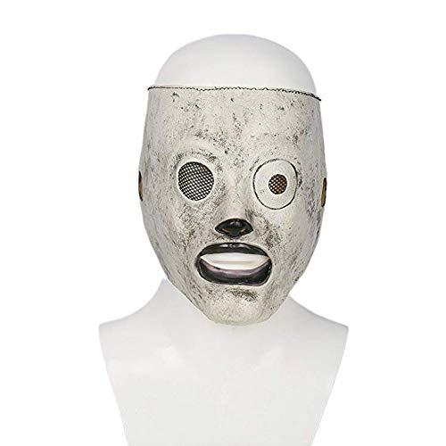 ZOUQILAI Latex Gesichtsmasken Horror Maske Halloween Cosplay Kostüm Männer Erwachsene Fancy Dress Party Gesicht Helm Draht Masken