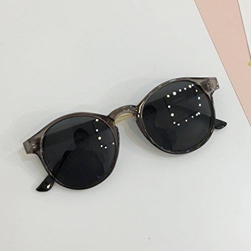 2019 Vintage Sonnenbrillen Sonnenbrillen mit rundem Gestell Transparent grau