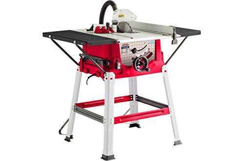 Scie de table Lumberjack TS250SL 250 mm avec rallonges latérales, dimensions de la table 930 x 640 mm